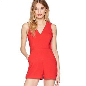 NEVER WORN- Super cute RED BCBG romper- size 2